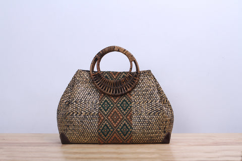 Shappybag - Bullet Seagrass wicker handbag
