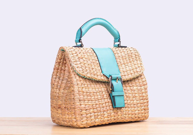 <ly-as-9507005>MINI VIPHA WICKER BAG (Turquoise)</ly-as-9507005>