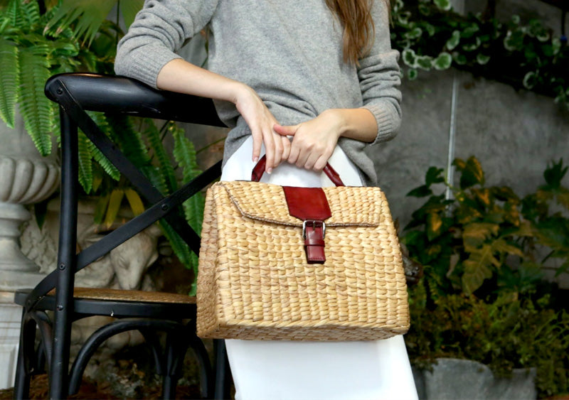 VIPHA WICKER BAG (Burgundy)