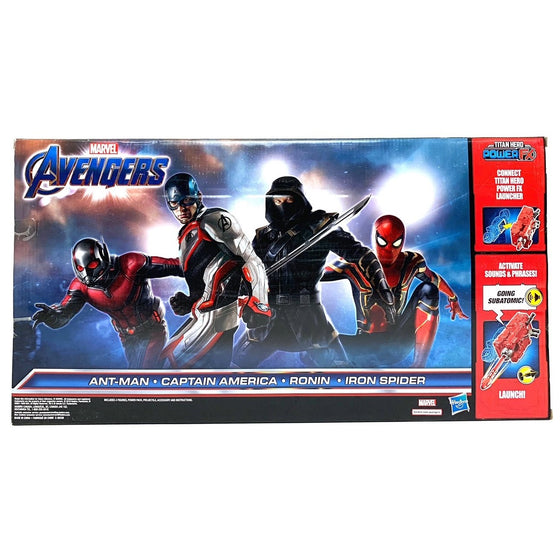 Marvel Avengers Titan Heroes Power FX Set of Four Action Figures Spider-Man, Ant-Man, Captain America and Ronin
