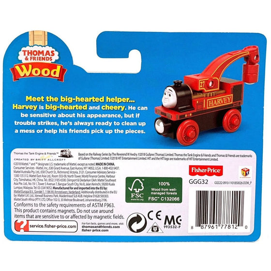 Thomas & Friends Ggg32 Wood Harvey, Multi Color