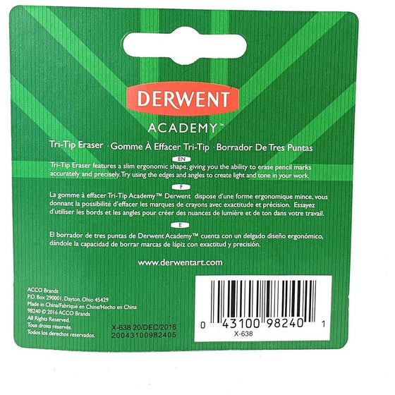 Derwent 959009 Academy Tri-Tip Eraser Gray Single,