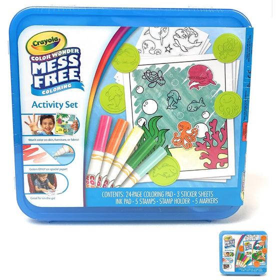 Crayola 75-2349 Color Wonder Mess Free Coloring Activity (Style May Vary), Multicolor