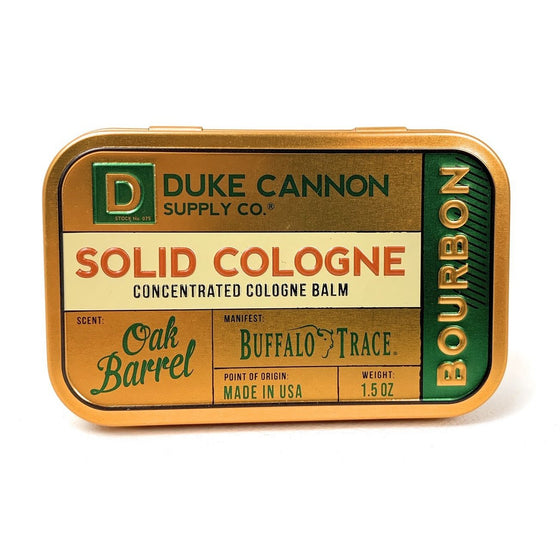 Duke Cannon Supply Co. SCBOURBON1 Duke Cannon Supply Co Solid Bourbon Cologne Oak Barrel Sent, 1.5 Oz,