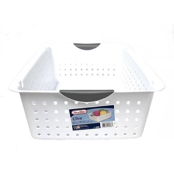 Sterilite 16268006 Ultra  Basket 15 7/8 X 13 1/8 X 6, White