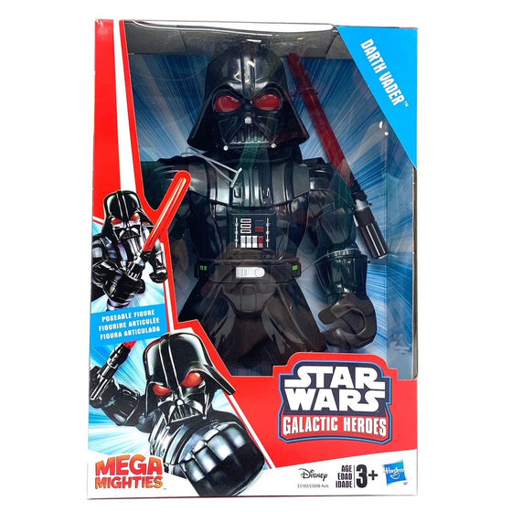 "Playskool Heroes E5103AX0 Star Wars Galactic Heroes Mega Mighties Darth Vader 10"" Action Figure With Lightsaber Accessory, Toys For Kids Ages 3 & Up, Halloween Colors"