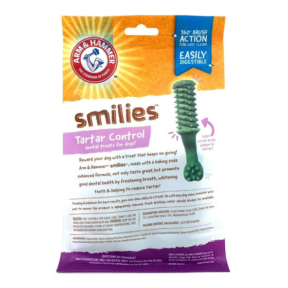 Arm & Hammer Ffp7617 Smiles Tarter Control Dental Treats For Digs, Mint