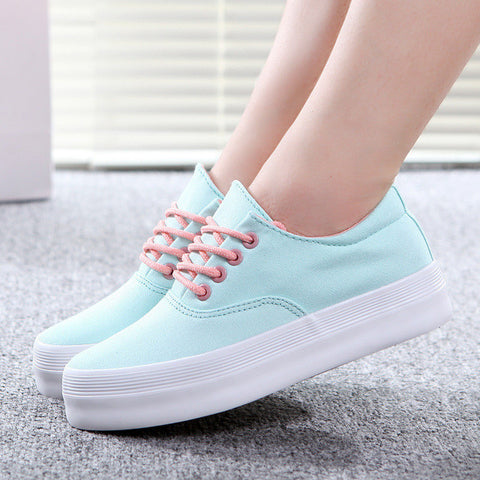 Shoes Woman Canvas Shoes Women Flat Shoes Scarpe Donna Creepers Shoes Ladie-iuly.com