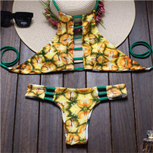 Load image into Gallery viewer, Suittop Reversible Lady Bandage Bikini Halter Swimsuit Bandeau Bikini-iuly.com