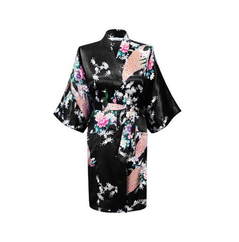 Silk Kimono Robe Bathrobe Women Satin Robe Robe Longue Femme For Women-iuly.com