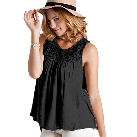 Blasas Chemisiers Summer Style Women Casual Chiffon Blouses Solid Slee-iuly.com