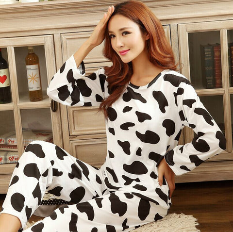 Women'S Sweet Womens Pajamas Animal Printing Indoor Clothing Home Suit-iuly.com