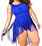 Women Plus Size Bikini Set Bathing Suit Swimwear Beach Wear Fringes Wa-iuly.com