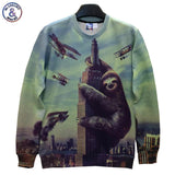Big Animals Printed Men/Women Hoodies Funny Hip Hop Print Many Bomb Carrier-iuly.com