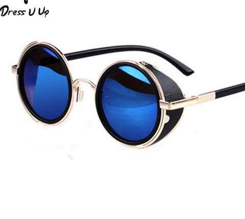 Steampunk Retro Coating Mens Vintage Round Sunglasses Men Women Sun Glasses-iuly.com