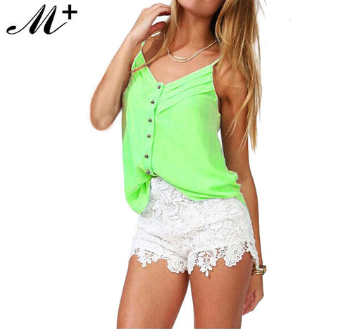 Clearance Women Blouses Candy Color Lady Shirts Chiffon Blouse Spagett-iuly.com