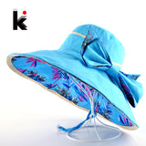 Beach Hat Summer Hats For Women Flower Pattern And Solid Colors Sides Use-iuly.com