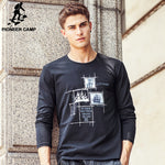 Casual Cotton T-Shirt Long Sleeved Men T Shirt O Neck Tshirt Men 611906-iuly.com