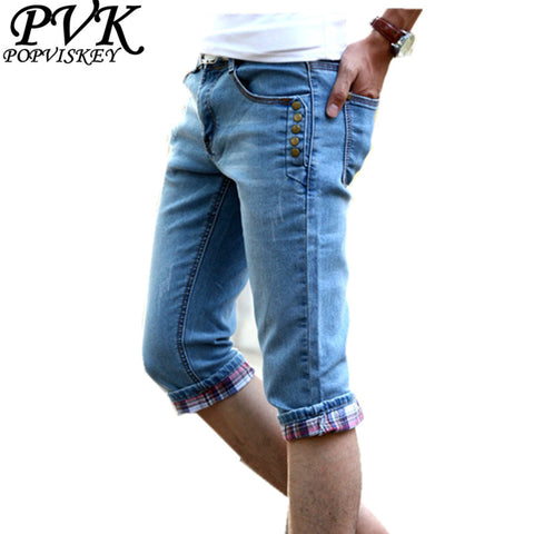 Fashion Men'S Jeans Of Slim Cotton Blend Short Denim Pant Man Male Cas-iuly.com