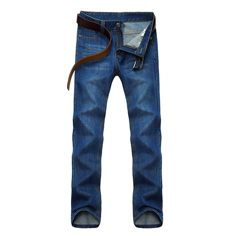 Men'S Solid Color Straight Jeans Spring And Summer Causal Denim Trouse-iuly.com