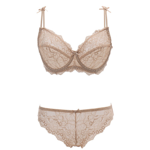 Lace Underwear Transparent Ultra-Thin Breathable Bra Set-iuly.com
