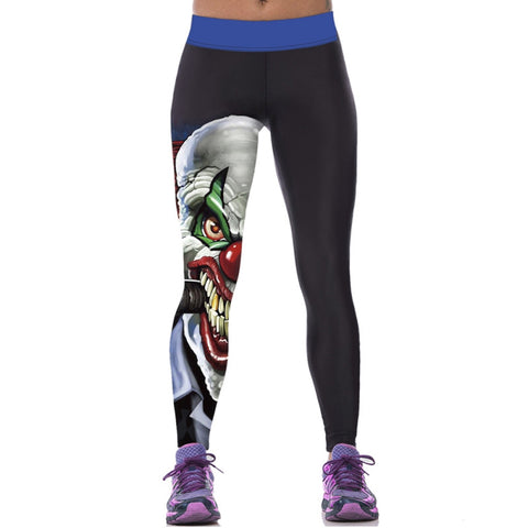 Women Colorful 3D Printed Pants Leggings Stretch Fitness Pencil Pants-iuly.com
