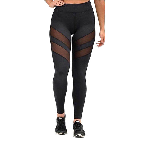 Athleisure Harajuku Leggings For Women Mesh Splice Slim Black Legging Pants-iuly.com