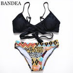 Criss Cross Bikini Brazilian Bandage Swimsuit Women Push Up Swimwear Bikini-iuly.com