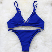 Load image into Gallery viewer, Women Retro Bikini Thong Swimwear Strappy Swimsuit Bathing Suit Saida-iuly.com
