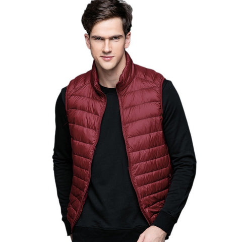 Spring Man Duck Down Vest Ultra Light Jackets Men Fashion Outerwear Coat Autumn-iuly.com