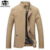 Plus Size 5Xl Solid Colors Men Jacket Spring Autumn Casual Male Coat Slim Fit-iuly.com
