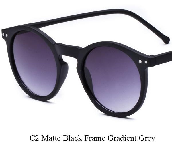 Ellipse Shape Multiple Color Reflective Sunglasses Women Vintage Keyhole Mi-iuly.com