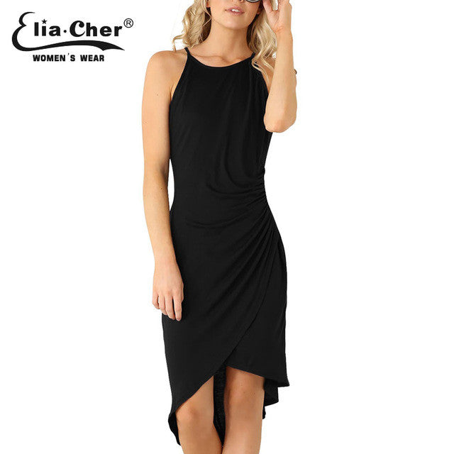 Women Dress Summer Dresses Casual Women Clothing Sexy And Solid Tank Dresses-iuly.com