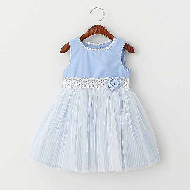 Girls Dresses Summer Style Sleeveless Children Clothes Flowers Design For Princess-iuly.com