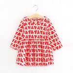Cute Floral Printed Baby Girls Dresses Spring Autumn Long Sleeve Bow Princess-iuly.com