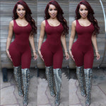 Backless Jumpsuit Body Tank Top Sexy Romper Bodysuits Plus Size Rompers-iuly.com