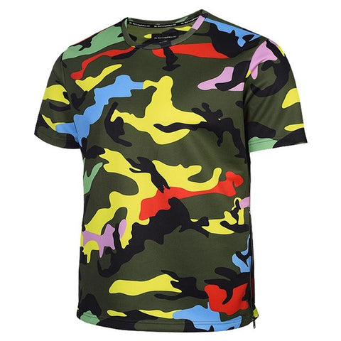 Camouflage T-Shirt Men/Women Zipper Tshirts 3D T Shirt Army Tops Tees Summer-iuly.com