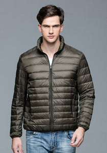 Autumn Winter Man Duck Down Jacket Ultra Light Thin Plus Size Spring Jackets-iuly.com