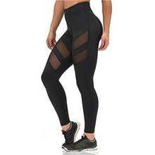 Load image into Gallery viewer, Athleisure Leggings For Women Mesh Splice Fitness Leggins Slim Black Legging-iuly.com