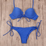 Bikinis Women Swimsuit Push Up Swimwear Bandage Cut Out Bikini Set Halter Beach-iuly.com