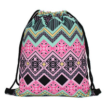 Load image into Gallery viewer, 3D Printing Backpack Unicorn Pattern Women Drawstring Bag Skd90-iuly.com
