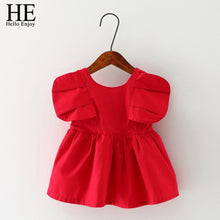 Load image into Gallery viewer, Enjoy Baby Dresses Girl Summer Red Sleeveless Birthday Party Princess-iuly.com