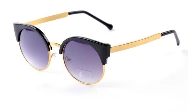 Cat Eye Vintage Sunglasses Women Girls Summer Retro Round Sun Glasses Cat E-iuly.com