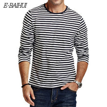 Load image into Gallery viewer, Autumn Casual Striped T Shirt Men Long Sleeve Men'S T Shirts Slim Fit Mens-iuly.com