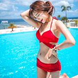 Hot Black And Red Color Swimwear Push Up Bikini Set Bandage Bikini Bathing Suit-iuly.com