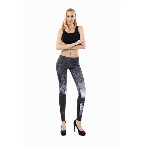 Arrival Printed Women Leggings Gray Sky Leggins For Woman Women Pant-iuly.com