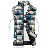 Men'S Stand Collar Camouflage Vest Men Winter Sleeveless Casual Jackets-iuly.com
