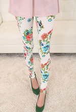 Load image into Gallery viewer, Elastic Big Yards Totem Flowers Geometric Patterns Nine Women Leggings For Women-iuly.com