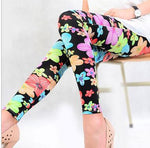 Elastic Big Yards Totem Flowers Geometric Patterns Nine Women Leggings For Women-iuly.com