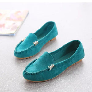 College Wind Loafer Shoes Women Flats Shoes Slip On Comfort Shoes Flat Shoes-iuly.com